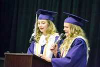 Alexa Lammers and Allie Rosener deliver speech together