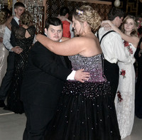 Prom Prince Nick McNear dancing with the Prom Princess Angela Tanderup