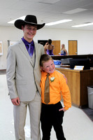 Jr. Attendant Garrett Taylor with Crownbearer Anderson Hall